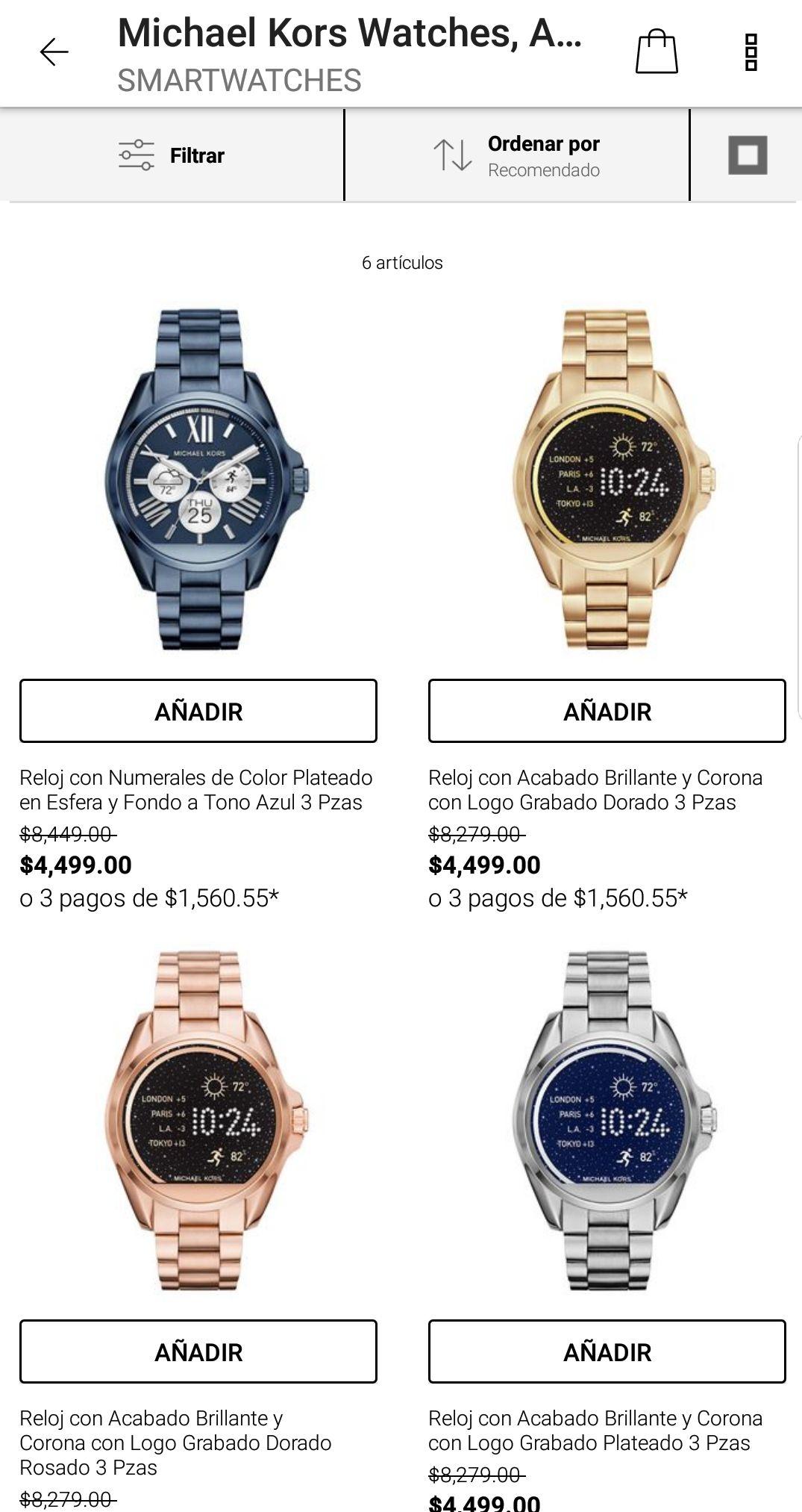 Privalia: Relojes Michael Kors a mitad de precio