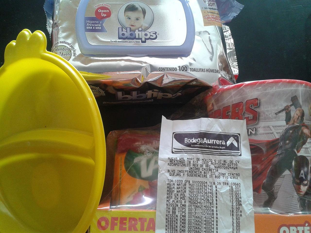 Bodega Aurrerá: 10 Tang + vaso Avengers a $12.02