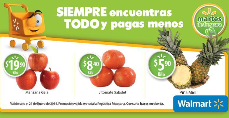 Martes de frescura Walmart enero 21: piña $5.90 el kilo y más
