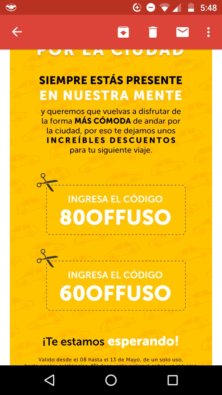 Easy taxi: Descuento de 80% con tarjeta y 60% con efectivo