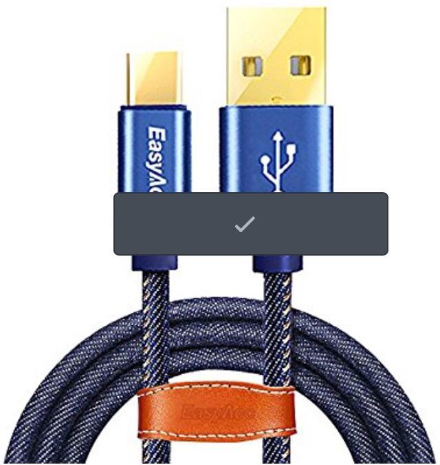 Amazon: USB C Cable 2.0 Carga Rápida y Sincronización, EasyAcc 1.2M