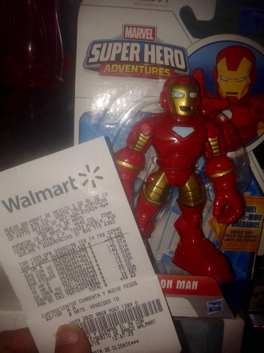 """Walmart: Marvel Super Hero Adventures """"IRON MAN"""" Playskool Heroes de Hasbro"""
