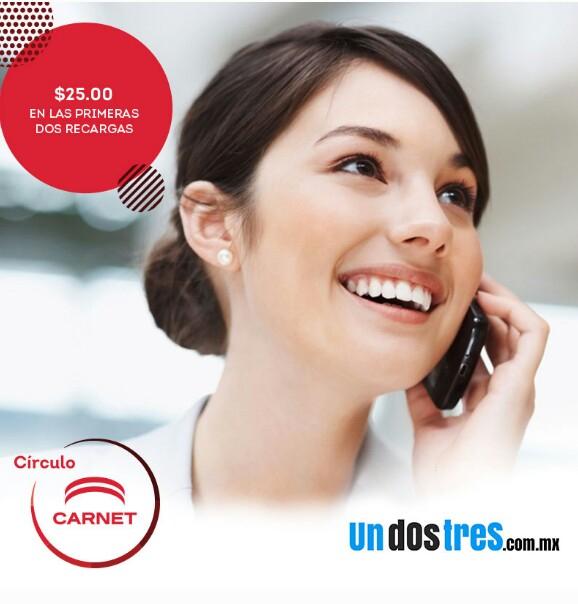 UnDosTres: Ahorra $25 en recargas celulares clientes nuevos