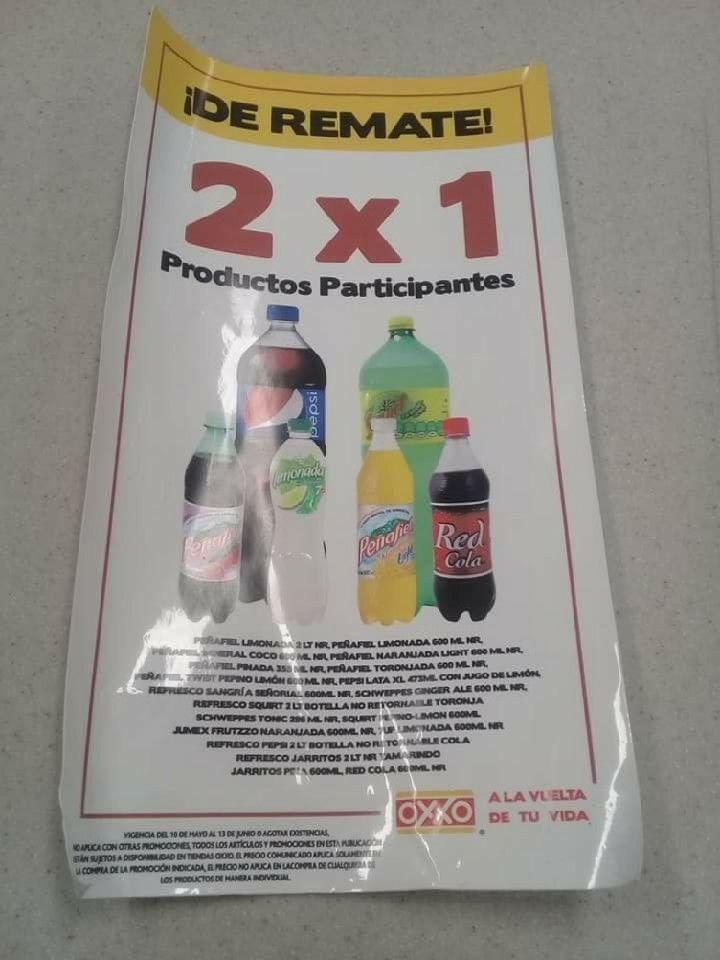Oxxo: 2x1 en refrescos seleccionados