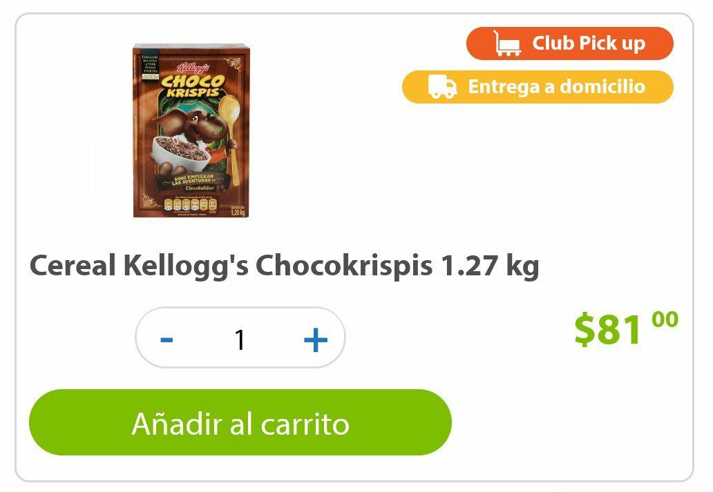 Sam's Club: Cereal chocokrispis 1.27 kgs Varios cereales mas .