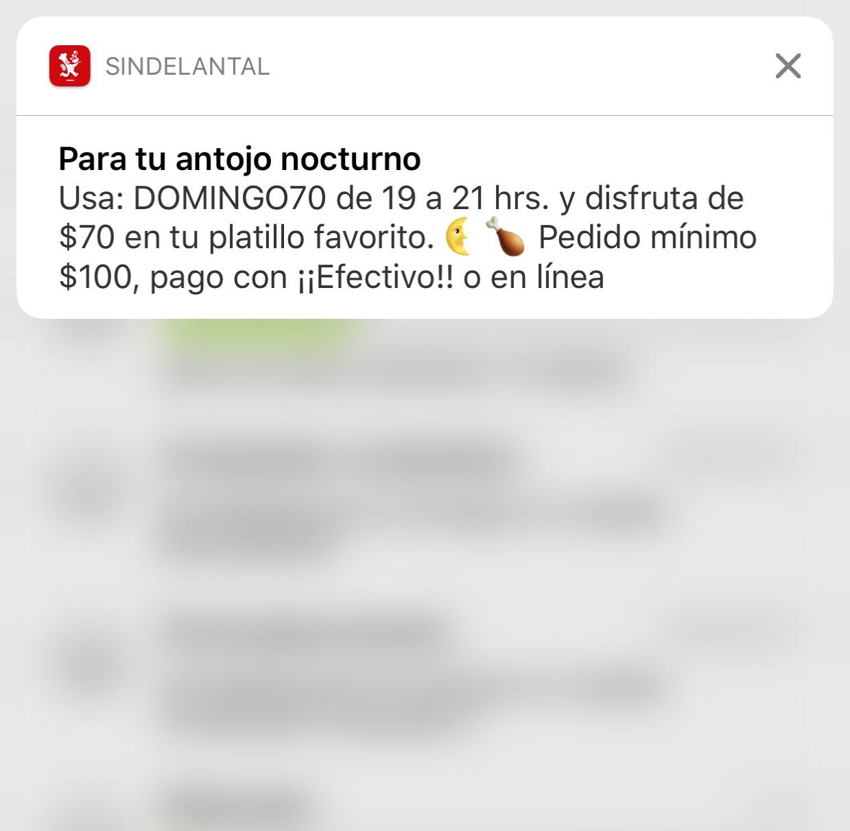 SinDelantal: Cupón de $70 con pedido mínimo de $100