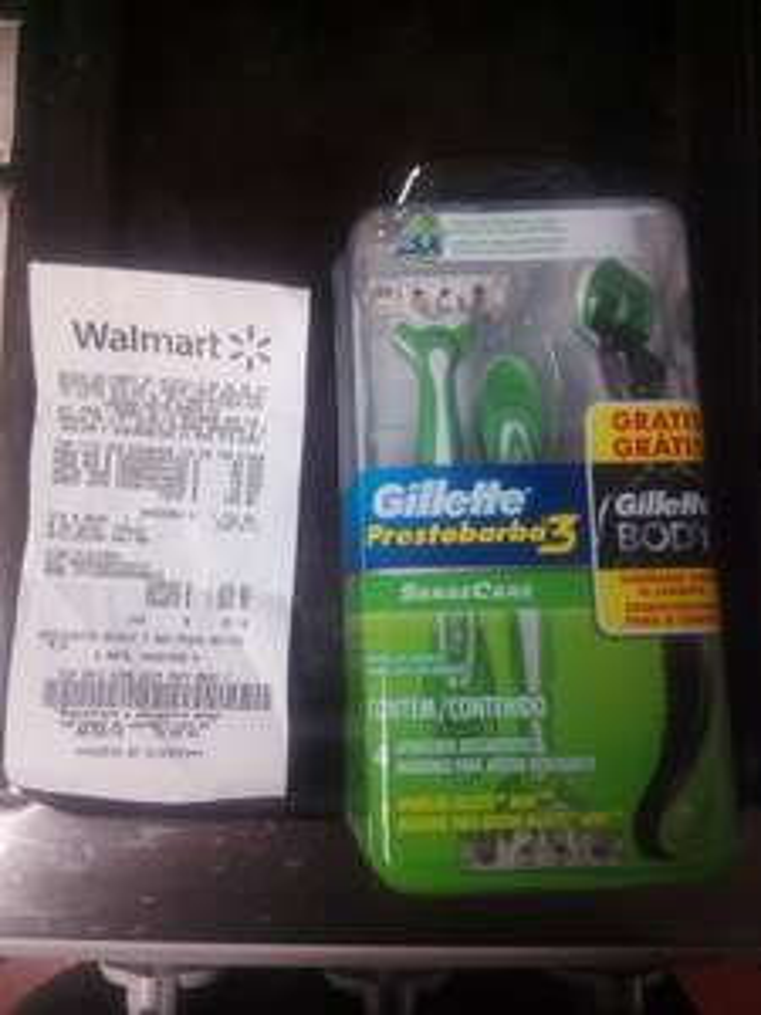 Walmart: Gillette Prestobarba 3 (4 rastrillos + 1 Gillete Body) a $89