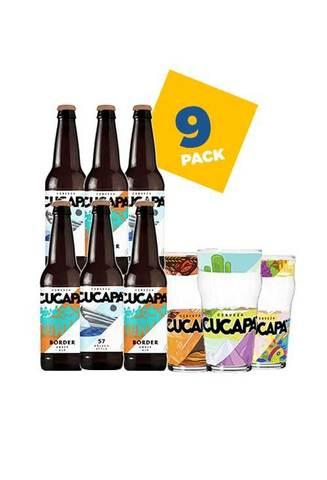 Beer House: 6 Cervezas Cucapa con vasos artesanales