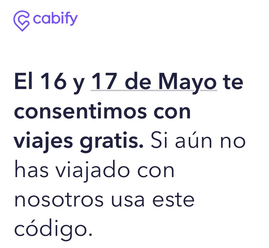Cabify: 2 viajes gratis $100 usuarios nuevos