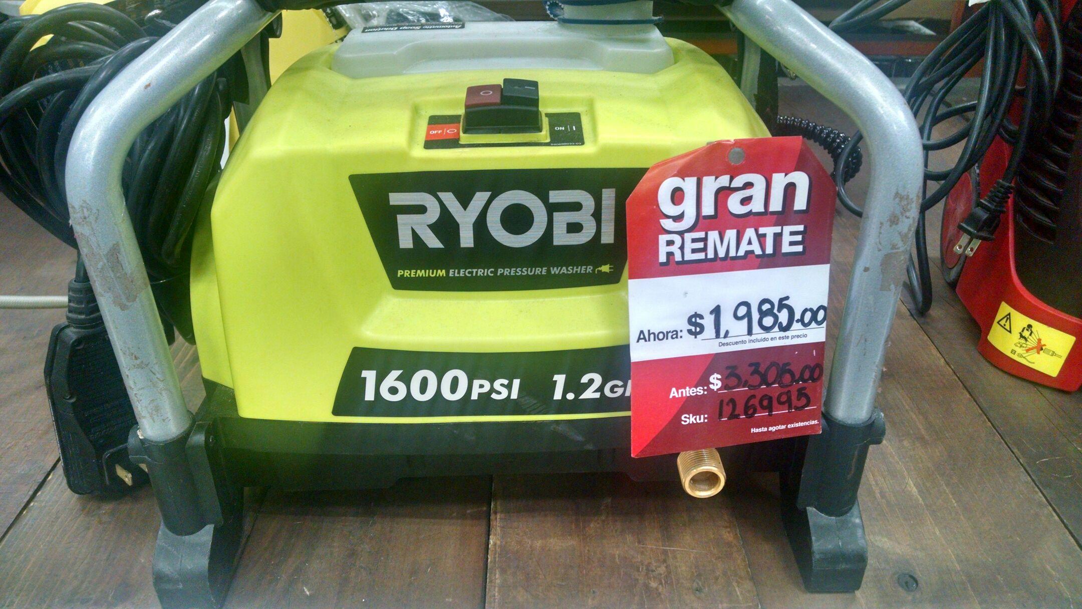 Home Depot: Hidrolavadora Ryobi a $1,980