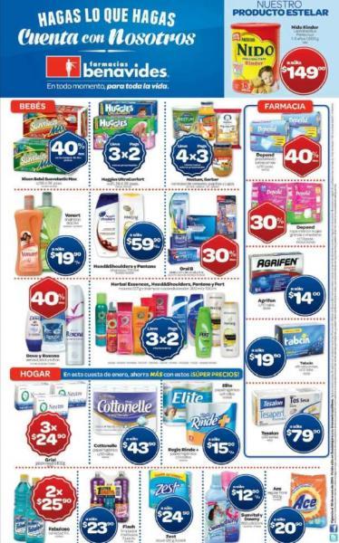Farmacias Benavides: 3x2 en pañales Huggies, shampoo Pantene, Head & Shoulders y más
