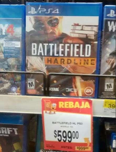 Walmart y Bodega Aurrerá: Battlefield hardline $599 y LEGO Batman 3 $449.02