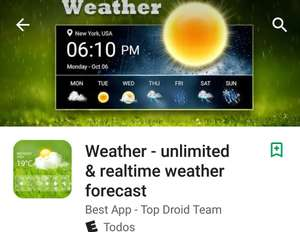 Google Play: Weather-Unlimited & Email Pro