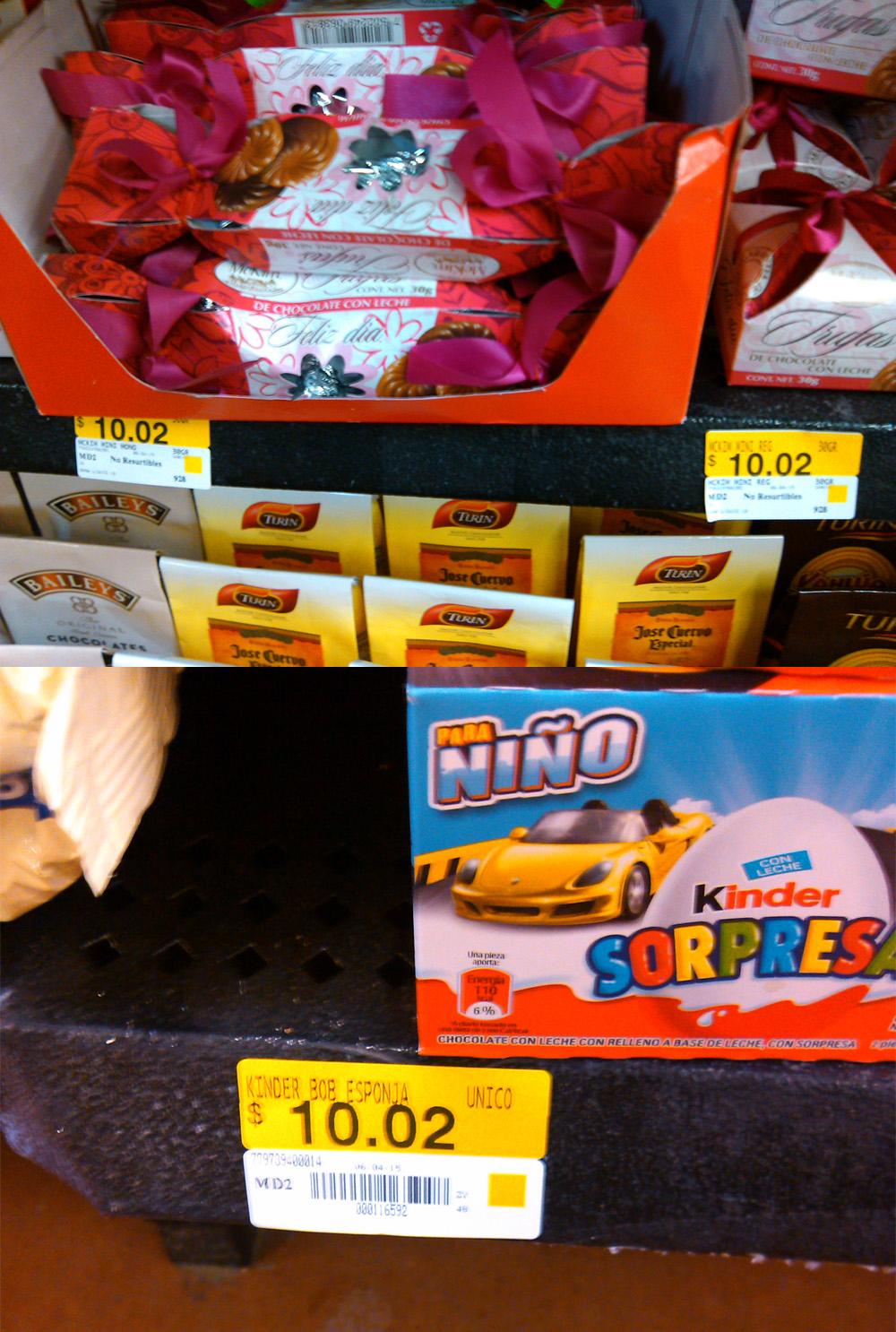Walmart: Kinder sorpresa 2 por $10.02 y Chocolates McKin a $10.02