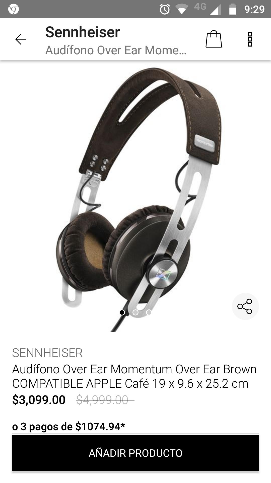 Privalia: Audífonos Momentum Over Ear Brown
