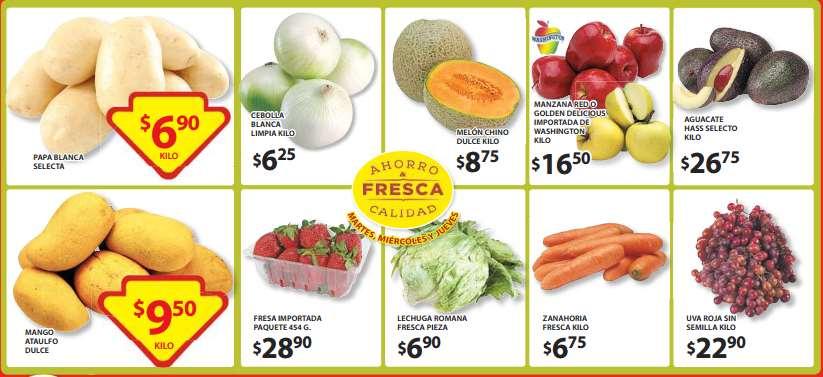 Ofertas de frutas y verduras en Soriana junio 9: uva $19.90 y más