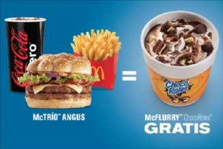 McDonald's: McFlurry gratis comprando McTrío Angus con Banamex