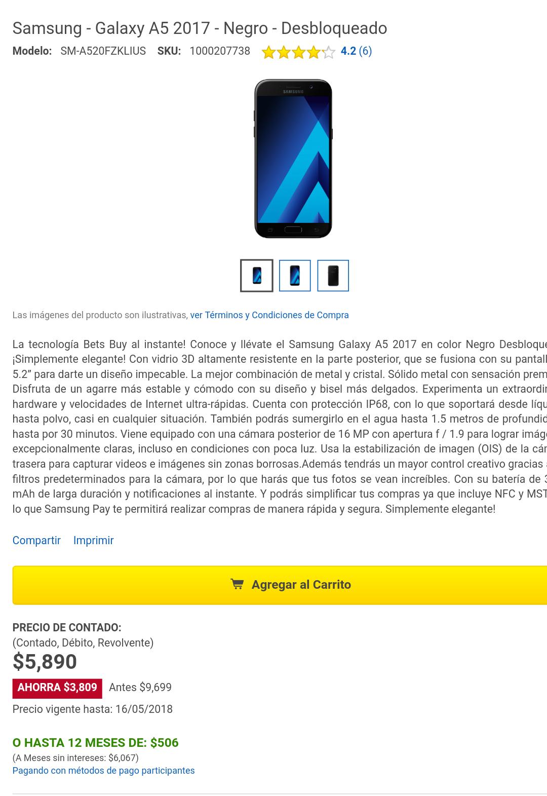 Samsung Galaxy A5 2017 Desbloqueado