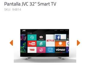 OfficeMax: Pantalla JVC 32'' Smart