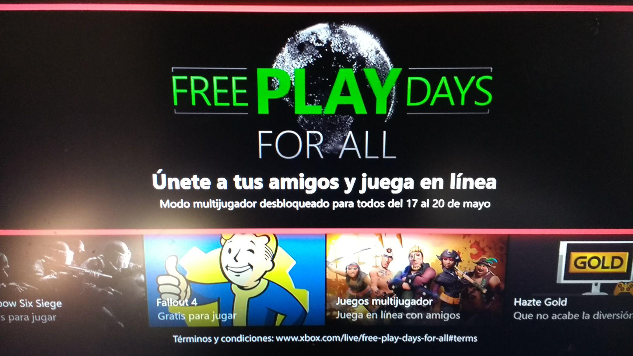 Xbox live Gold, Días de juego gratis