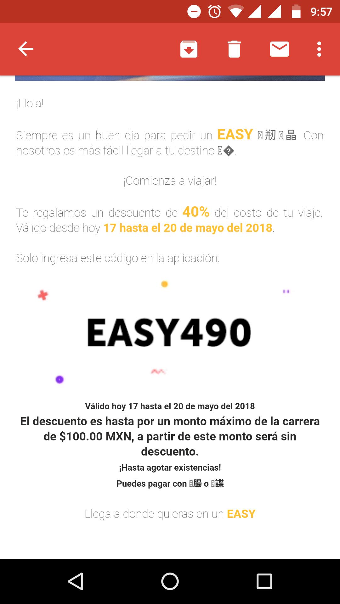 Easy Taxi: cupón de 40% de descuento (17 al20 de mayo)