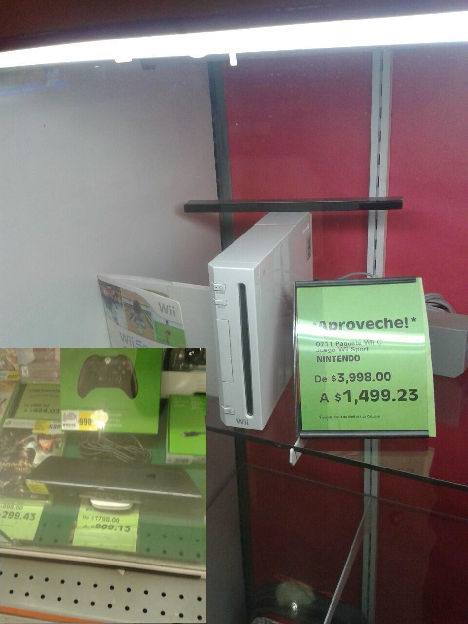 La Comer: Wii $1,499 y Kinect $809
