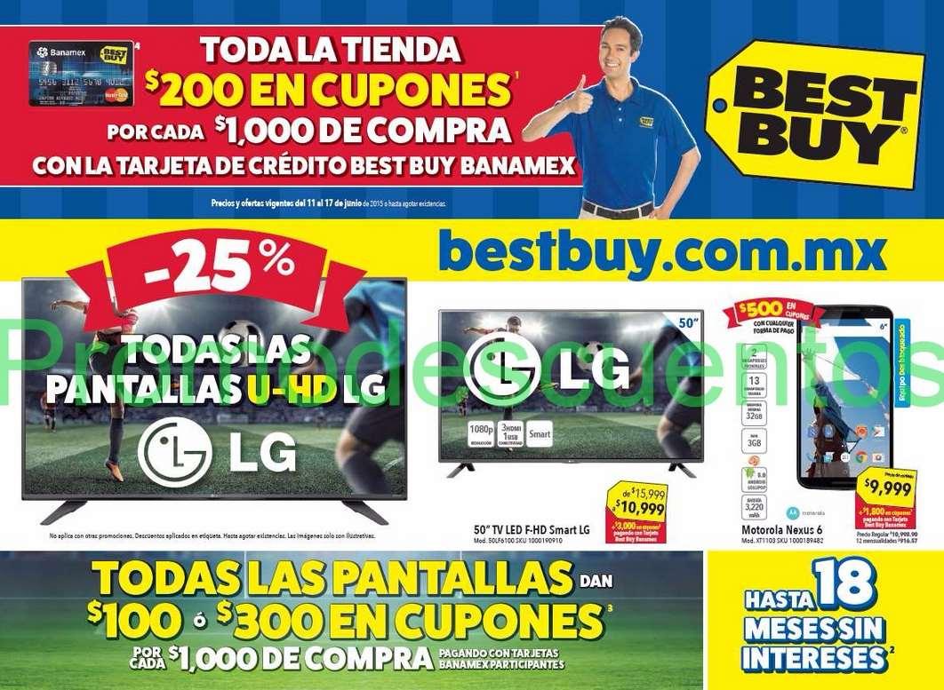 Best Buy: hasta $300 de bonificación por cada $1,000 en teles con Banamex