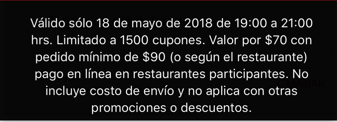 Sin Delantal: Cupon de $70 compra minima $90 (de 7 a 9pm)