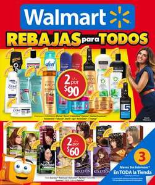 Folleto de ofertas rebajas para todos en Walmart del 11 al 24 de junio
