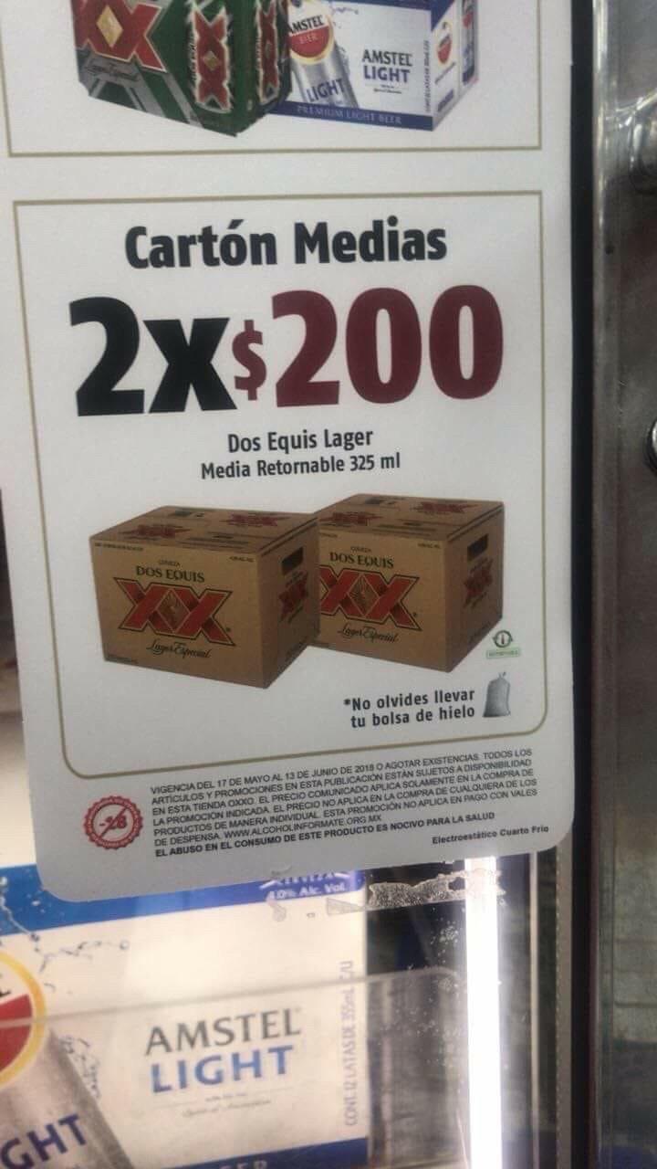 Oxxo: 2 cartones de medias XX Lager por $200 pesitos