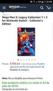 Amazon EE.UU: Mega Man X: Legacy Collection 1 + 2 - Collector's Edition( xbox one, ps4 y switch)