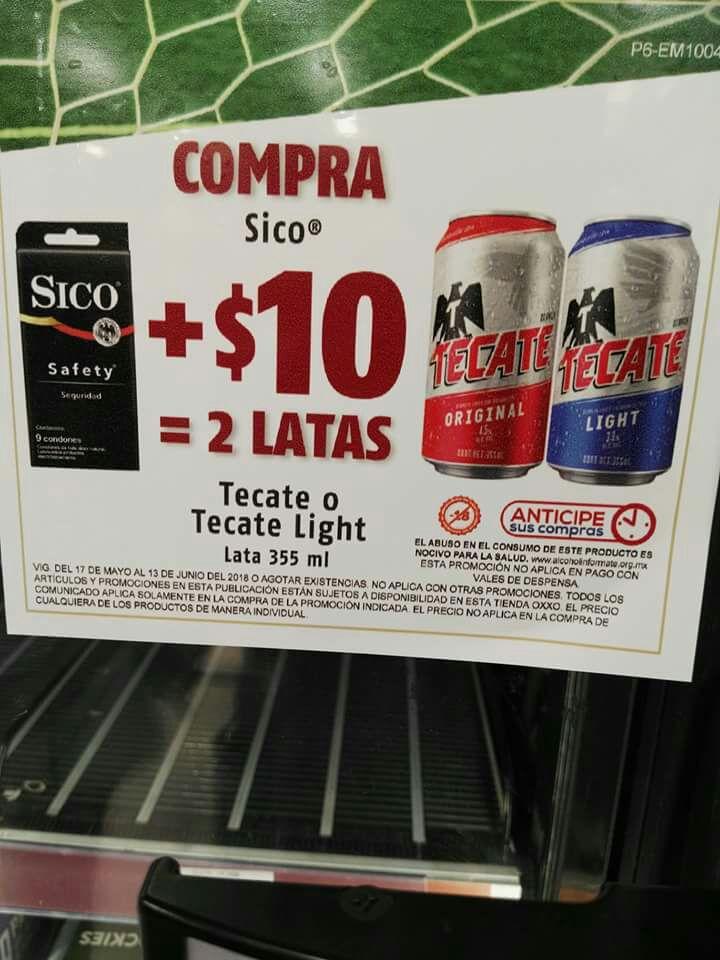 Oxxo: Compra Condones Sico + $10 te llevas dos Tecates