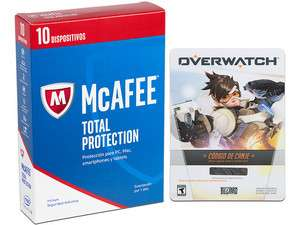 PCEL: Overwatch PC + antivirus MC AFEE para 10 dispositivos $399