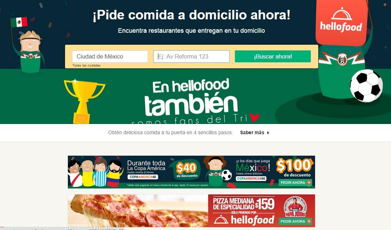 Hellofood: hasta $100 de descuento