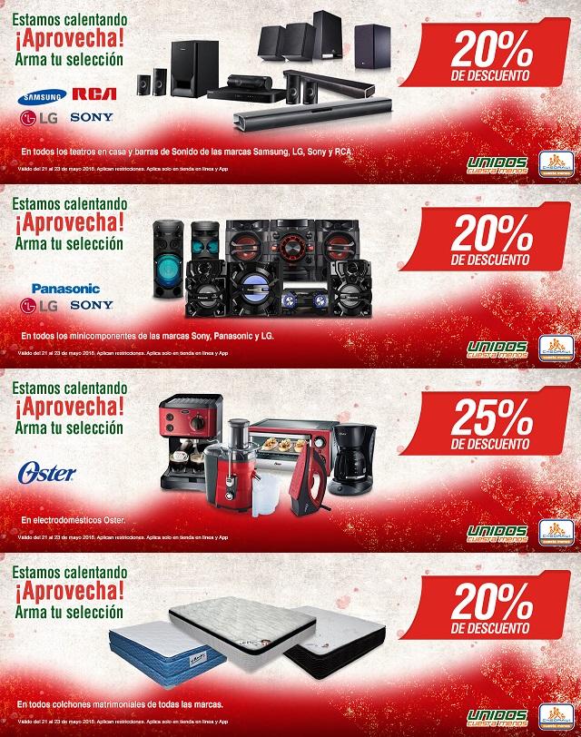 Chedraui: Pre Hot Sale por Internet: 20% desc. en teatros en casa y barras de sonido... 20% desc. en minicomponentes... 25% desc. en electrodomésticos Oster... 20% desc. en colchones... y más