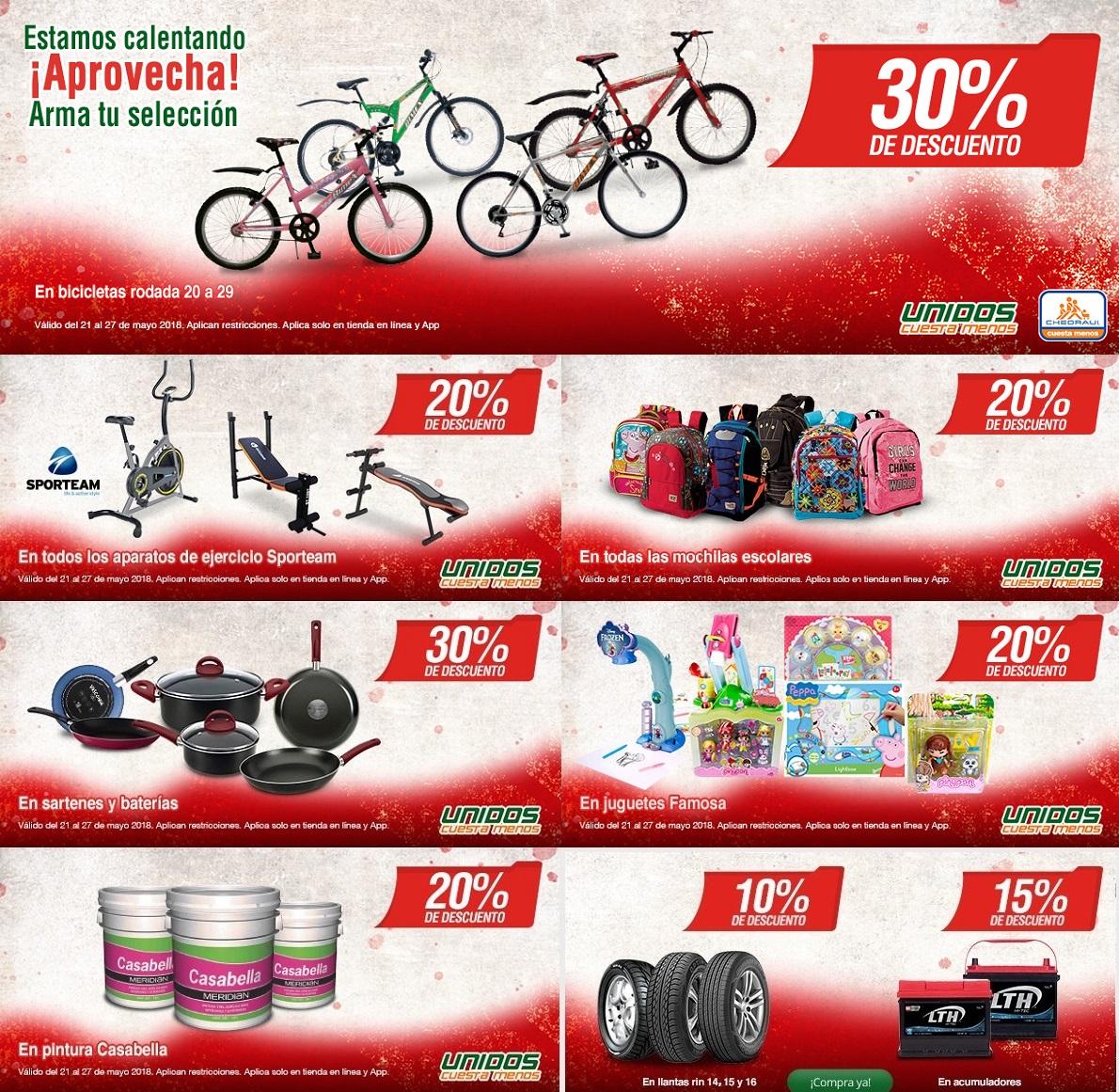 Chedraui: Pre Hot Sale por Internet: 20% desc. en aparatos de ejercicio Sporteam... 30% desc. en sartenes y baterías... 20% desc. en pintura Casabella... y más