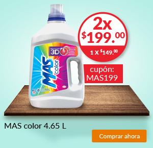 Superama: Más Color 4.65 L 2 x $199.00 con cupón MAS199
