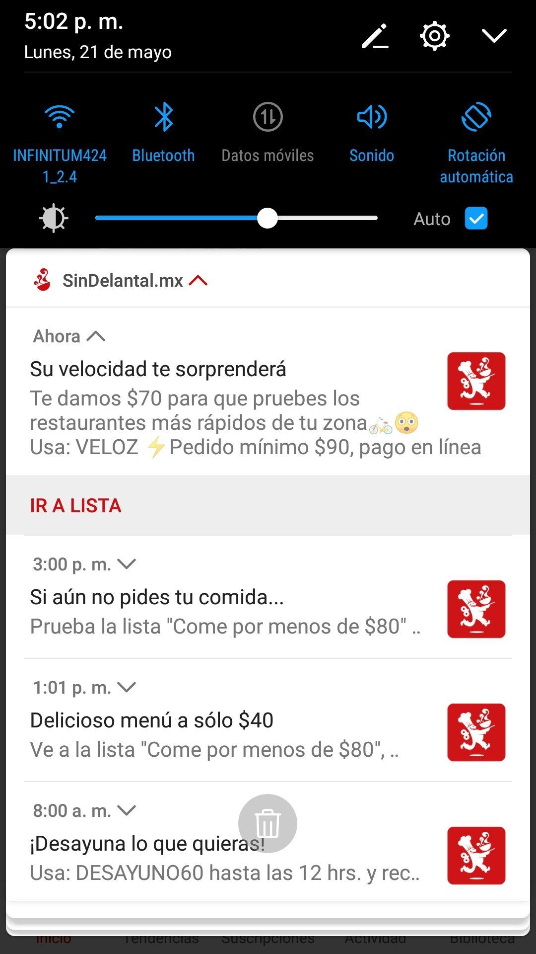 SinDelantal: Cupón $70 de descuento en pedido mínimo de $90