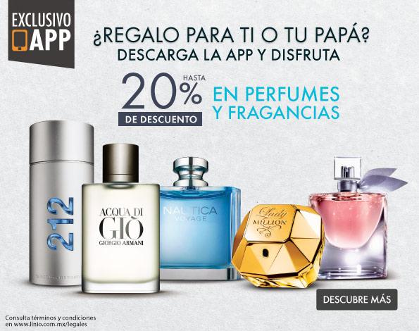 LINIO: 20% De descuento en perfumes y fragancias (APP)
