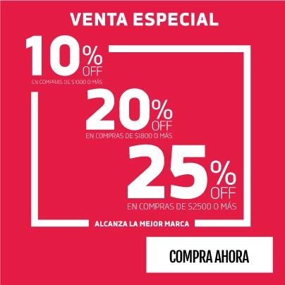 DPortenis: venta especial hasta 25% de descuento