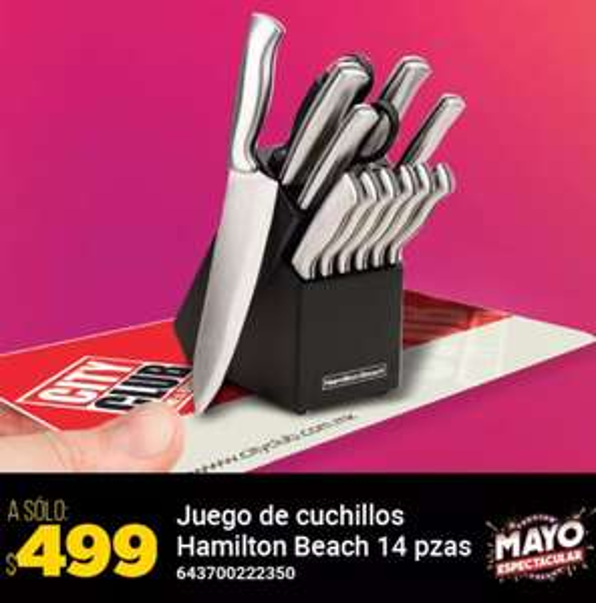 City Club: Juego de cuchillos Hamilton Beach 14 pzas
