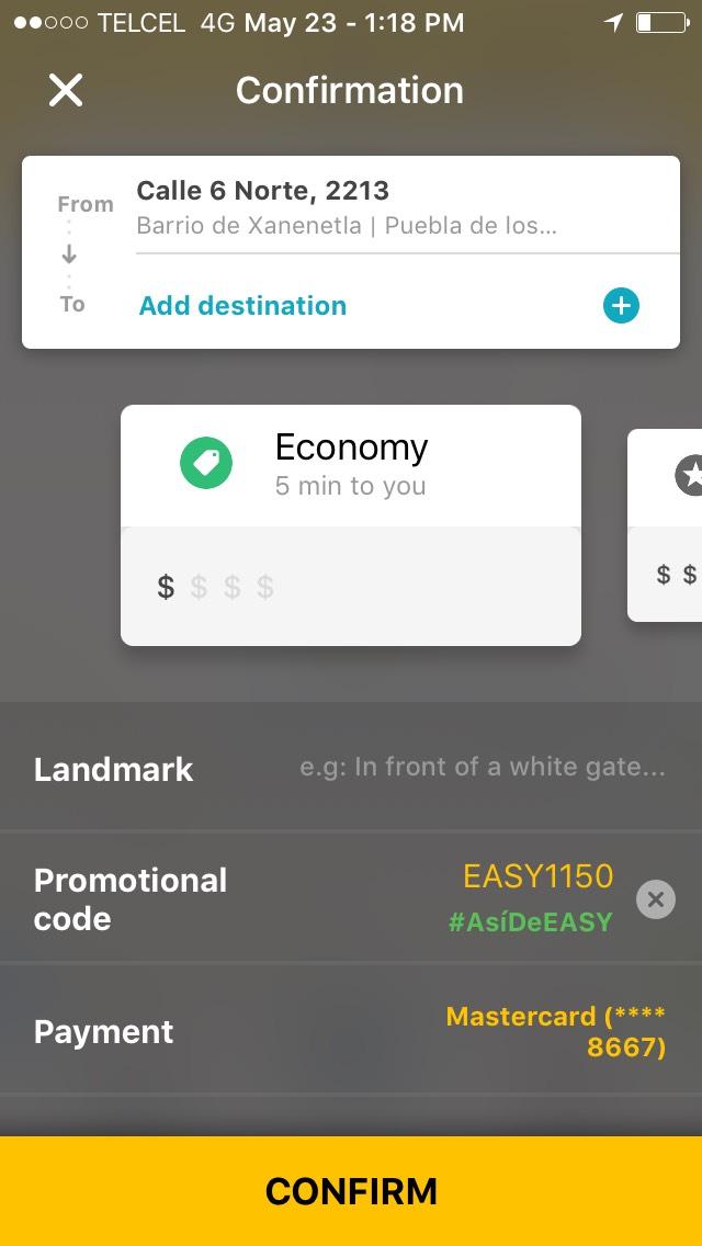 Easy Taxi: cupón de 70% de descuento
