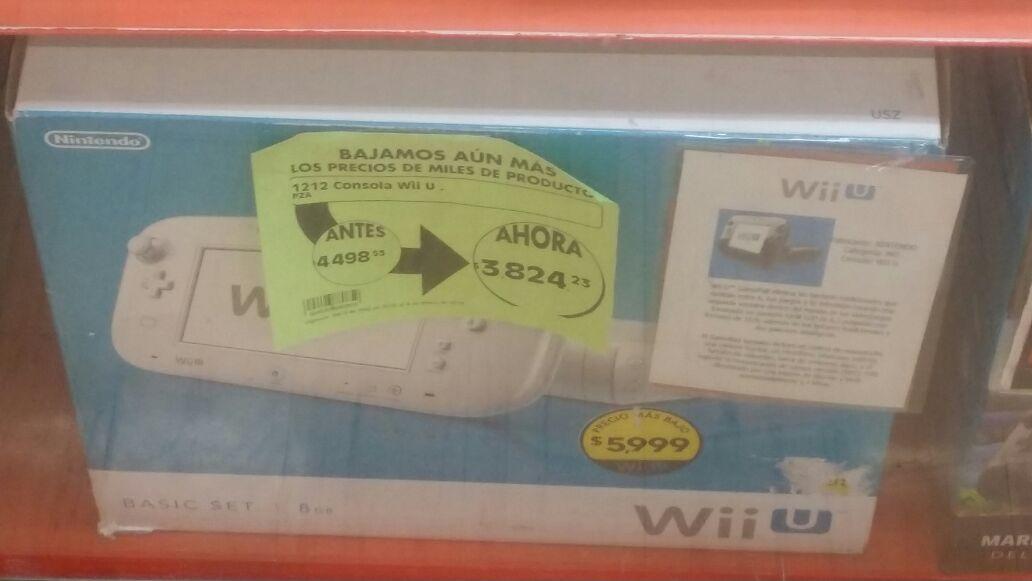 La Comer: consola Wii U Basic (8GB) $3,824