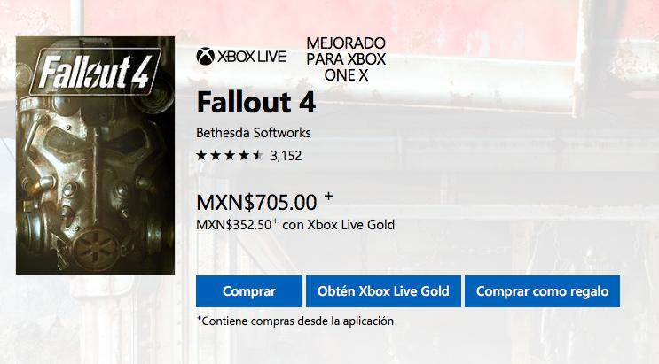Microsoft Store: Fallout 4 con 50% de descuento XBOX