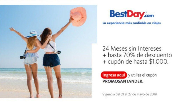 Best Day: Hasta $1000 de descuento con tarjetas Santander