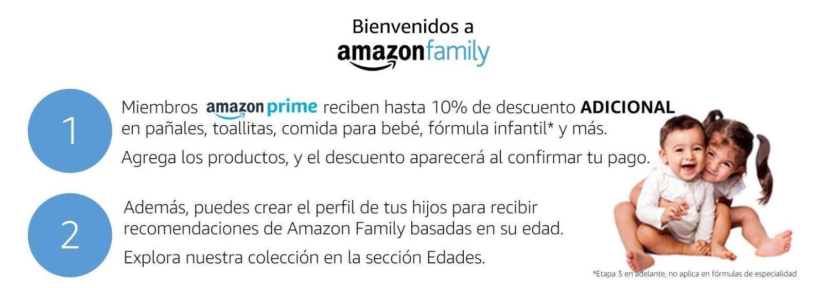 Amazón: 10% adicional para miembros de amazon prime en categoría bebésy descuentos extra