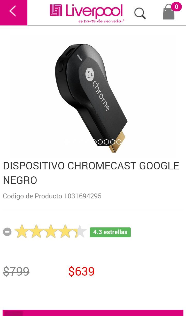 Liverpool: Chromecast en $639