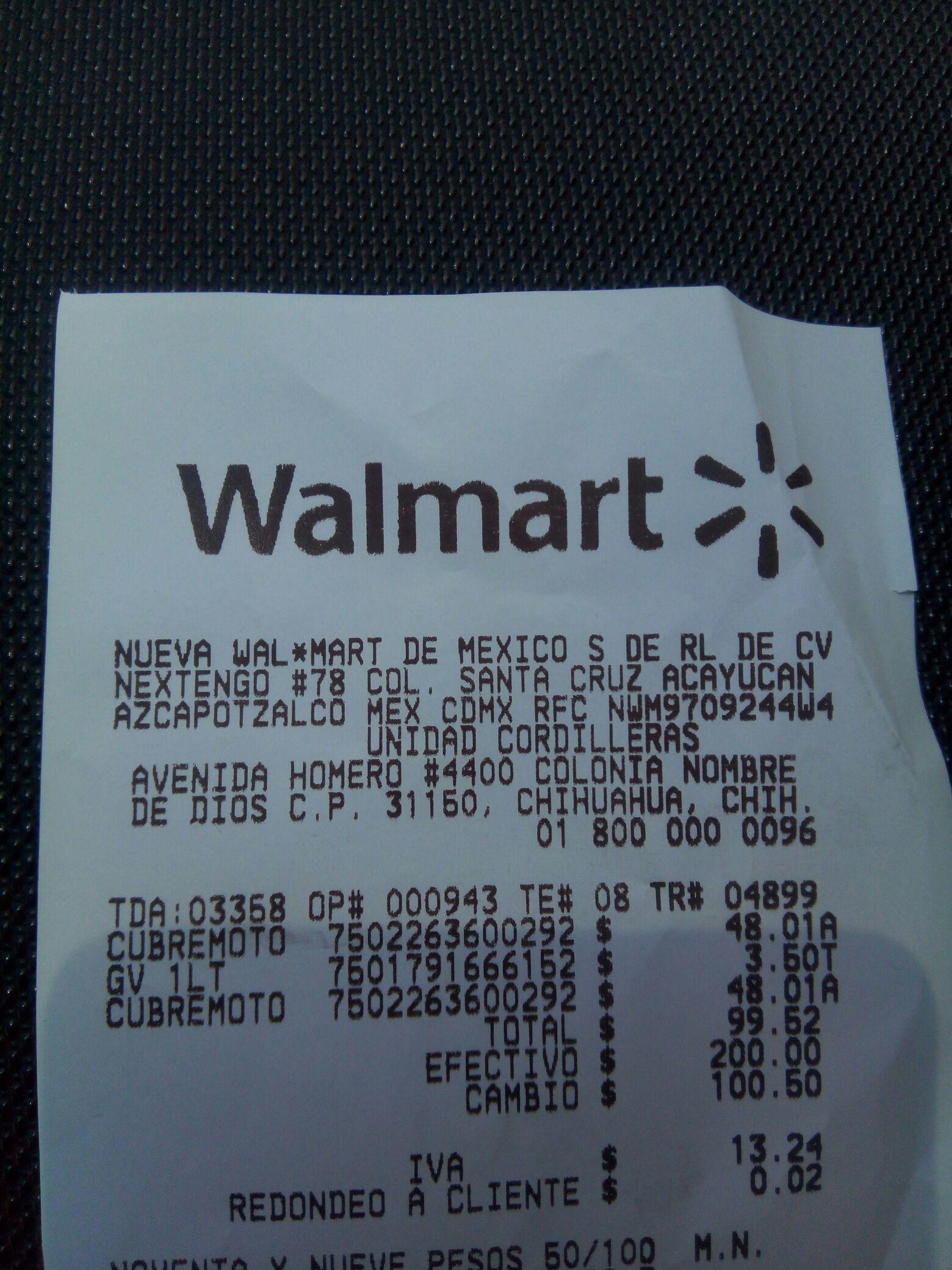 Walmart:  liquidación Cubierta para motocicleta