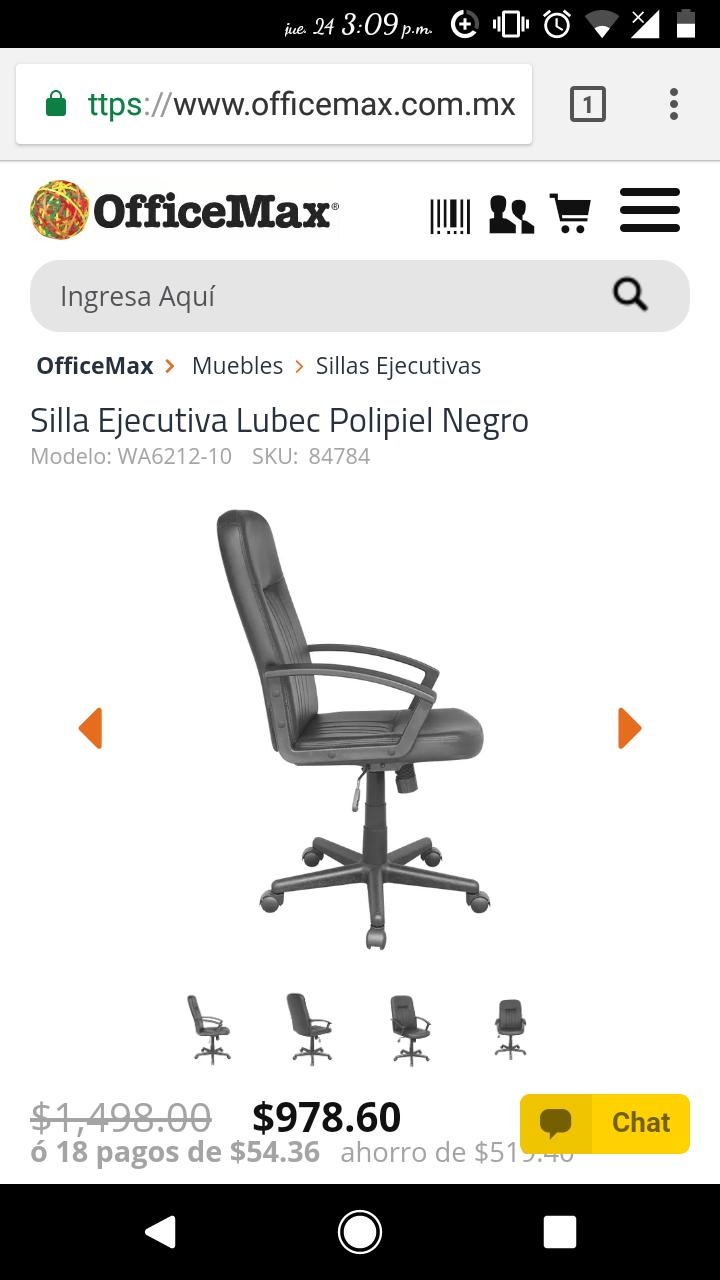 OFFICE MAX: Silla Ejecutiva Lubec