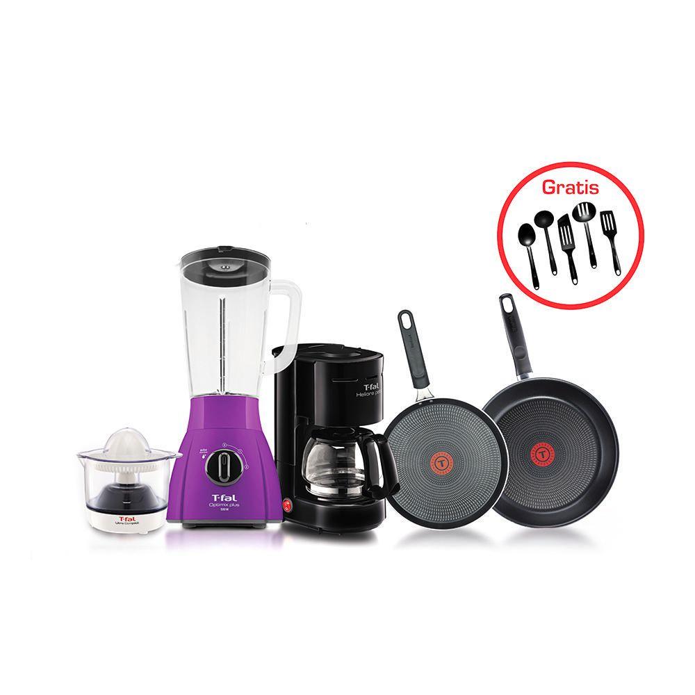 Elektra: Paquete T-fal 5 piezas + utensilios